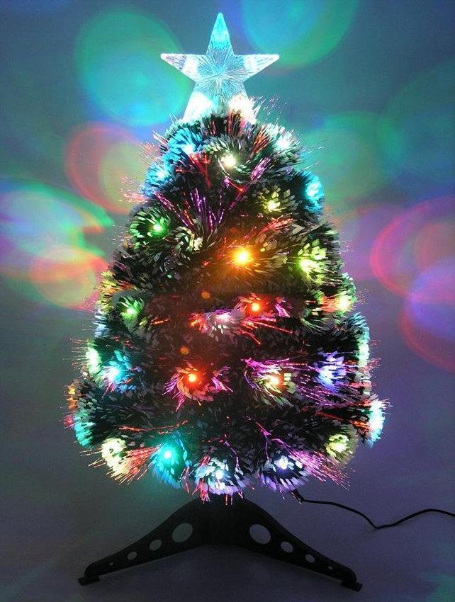Елка светодиодная с напылением на кисточках - ёлка LED в ... | 850x642